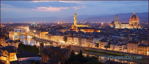 Florence skyline by night